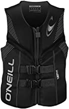 O'Neill Men's Reactor USCG Life Vest, Black/Black/Black,X-Large
