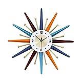 LiRuiPengBJ Reloj Nelson Reloj Nelson Reloj de Metal Color Gypsophila Reloj de Pared Silencioso Que No Hace Tictac Fácil de Leer para El Hogar Sala de Estar, Dormitorio, Oficina (Size : 56cm/22inch)