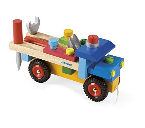 Janod J05022 - Werkzeug-Lkw Zum Zusammenbauen (Bestehend Aus 17 teilen)