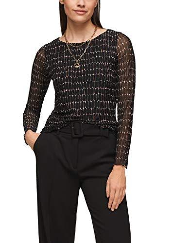 s.Oliver BLACK LABEL Damen 150.14.012.12.130.2100004 T-Shirt, Schwarz, 38