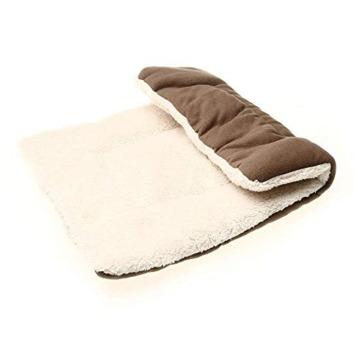 Queta Cama para perros lavable, ortopédica y antideslizante, cojín para perros con peluche suave, color marrón
