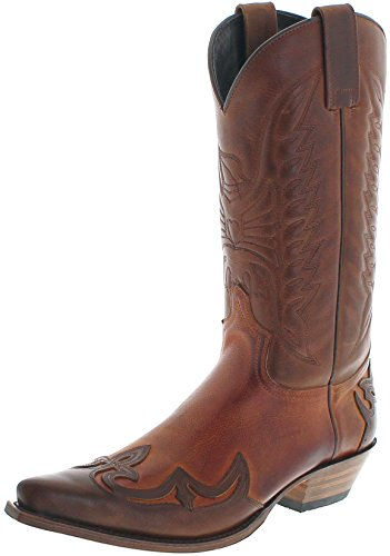 Sendra Boots Damen Herren Cowboy Stiefel 13170 Westernstiefel Braun 45 EU