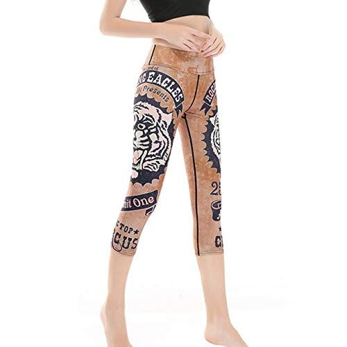 DSCX Dames yoga broek Leggings broek   Sport Ademend Groot formaat Tijgerprint Mode Outdoor trainingsbroek