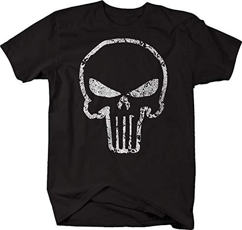 Cotton T-Shirt Punisher Skull Ghost Shadow American Sniper T-Shirt Casual Tee Shirt