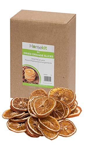 30 getrocknete Orangenscheiben - perfekt für florale Präsentationen, Kränze und Weihnachtsdekorationen - Basteln