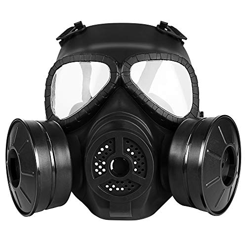 M04 Airsoft Tactical Protective Mask, Full Face Eye Protection Skull Dummy Toxic Gas Mask with...
