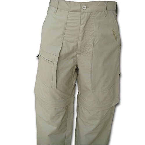 Tucuman Aventura - Respirants Pantalons Amovibles (Beige, 44)