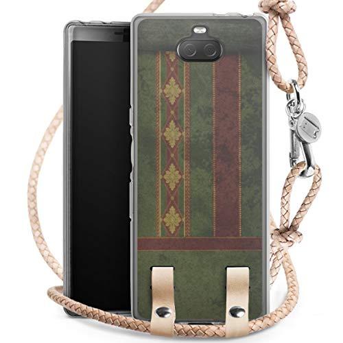 DeinDesign Carry Case kompatibel mit Sony Xperia 10 Hülle mit Kordel aus Leder Handykette zum...