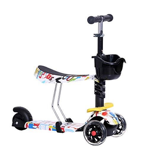 Triciclo Trike Triciclo PresentTrike Niños Niños Scooter bebé 5en1 PU 3wheels Intermitentes de elevación oscilación del Coche 2-15 Años de Edad Cochecito de vehículos Paseo en Bicicleta al Aire Libre