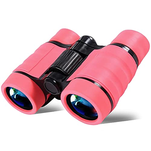 YiYunTE Binoculares para Niños Mini Prismáticos Compactos a Prueba de Golpes para Niños Alta Resolución Observación de Aves Excursiones Caza Aprendizaje Senderismo Juguetes Regalos para Niños (Rosa)
