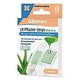 Lifemed - 10 Pflaster-Strips weiss Aloe Vera 2 Größen