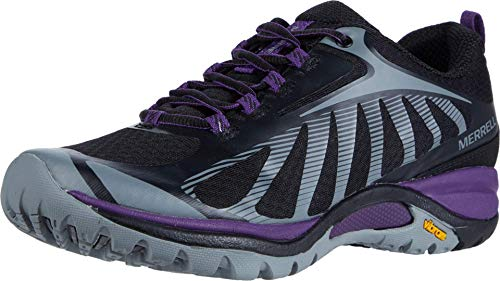 Merrell womens Siren Edge 3 Hiking Shoe, Black/Acai, 10 Wide US