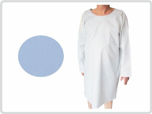 Krankenhemd hellblau fuer Erwachsene Krankenhausqualität - Pflegehemd Nachthemd Patientenhemd Flügelhemd