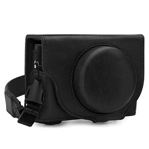 MegaGear MG1730 Ever Ready - Funda de Piel para cámara Sony Cyber-Shot DSC-RX100 VII, Color Negro