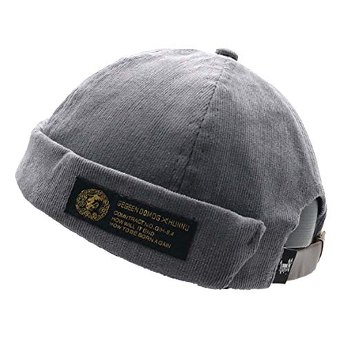 Clape Corduroy Docker Leon Brimless Hat Commando Work Beanie Rolled Cuff Harbour Watch Cap Hat