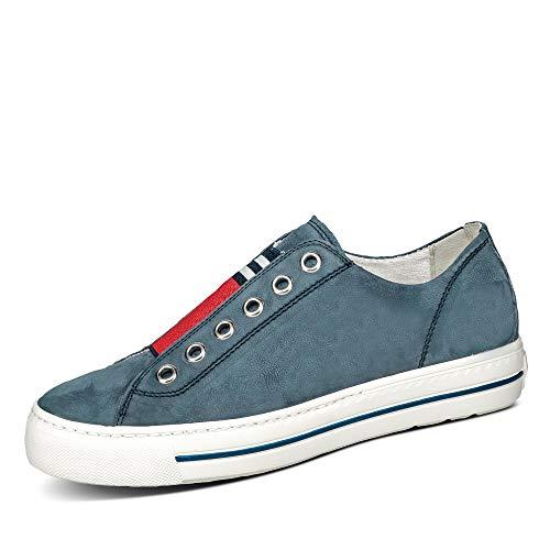 Paul Green Damen SUPER SOFTE Slip-On Halbschuhe, Damen Low-Top Sneaker,weiblich,Ladies,Women\'s,Halbschuhe,straßenschuhe,Blau (118),40.5 EU / 7 UK