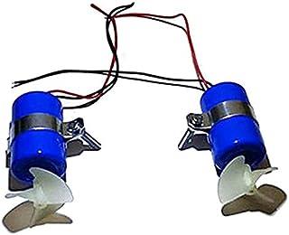 Jcevium 1ペア、RCジェットボート水中モーター、スラスタ7.4V 16800RPM CW CCW 3ブレードプロペラ、DIY、ミニROVロボットRC餌用