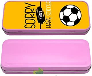 Boite à crayon sorry i can't i have soccer 3 - rose