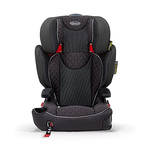 Graco Affix Kindersitz 15-36 kg, Autokindersitz ab 4 bis 12 Jahren, Gruppe 2/3, Konnektoren zur Fixierung am Isofix-System des Autos, mitwachsend, Seitenaufprallschutz, Getränkehalter, Stargazer