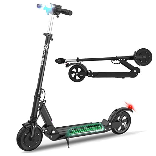 EverCross Electric Scooter, Electric Scooter for Adults with 350W Motor, Up to 20MPH & 22 Miles, Electric Scooter for Teens with Dual Braking Safety System, Folding Electric Scooter with 8'' Tires