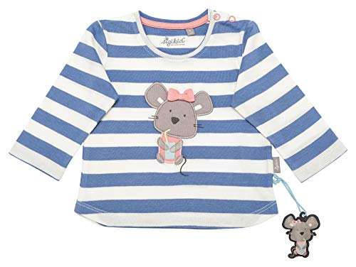 Sigikid Baby-Mädchen Langarmshirt, Blau (Colony Blue 539), (Herstellergröße: 74)