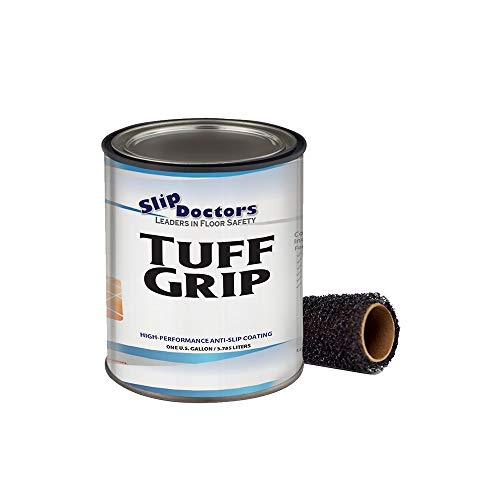 SlipDoctors Tuff Grip (Sand, Gallon) Commercial-Grade Non-Slip Urethane Coating. Textured, High-Performance Paint to Prevent Slips and Falls on Multiple Surfaces