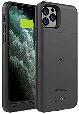 Alpatronix iPhone 11 Pro Battery Case, 4200mAh Slim Portable Protective Extended Charger Cover with Qi Wireless Charging Compatible with iPhone 11 Pro (5.8 inch) BXXI Pro - (Black)