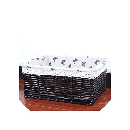 Bamboo Weaving Storage Basket Fruit Picnic Basket Rattan Storage Box for Cosmetics Snacks Tea Book Organizer Handiwork,01,China,Set(A B C)