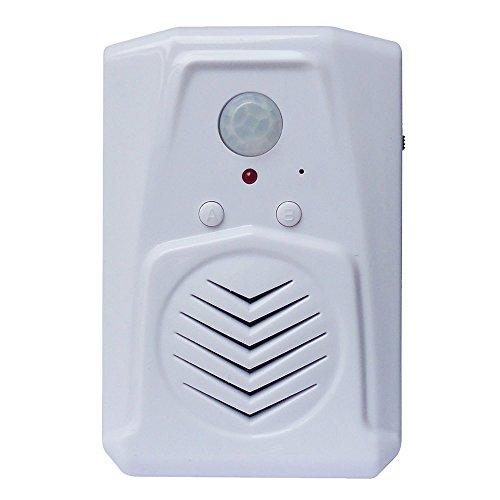 Talking Produkte ms-pir-120Pro Edition mit Multibahn Funktion, Ihre eigenen MP3Dateien, Play Rede, Musik oder Sound Effekte PIR-Bewegungssensor, weiß