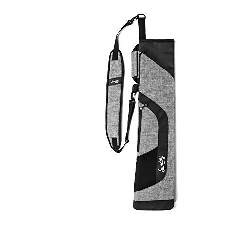 Sunday Golf Pencil Bag – Comfortable and Lightweight Golf Carry Bag – Foldable Golf Bag for Executive Courses and Driving Ranges – Holds 7 – 8 Clubs Personal Items and More