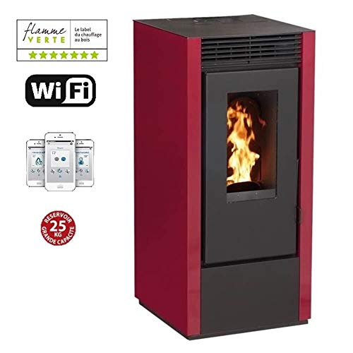 INTERSTOVES - Poêle à granules MARINA 10KW - Noir option WIFI