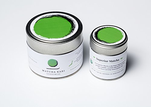 Matcha Kari - Superior 100% Pure USDA Organic & All Natural Green Tea Powder - Detox Body - Antioxidants - Rejuvenating Energy Green Tea - Authentic Highest Quality Japanese Matcha Tea