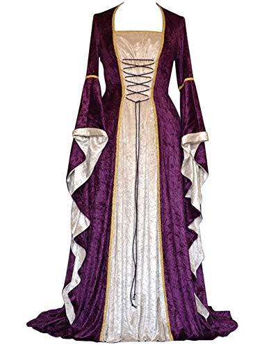 baratos y buenos Trajes medievales, vestidos de manga larga, trajes vintage renacentistas, cosplay, fundas con solapas … calidad