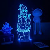 Illusion Night 3D Night Light Anime Kono Subarashii Guardian Of The World Driso Decoraciones Niños Familia Familia Regalo De Cumpleaños Usb Toque Colorido Noche Luz