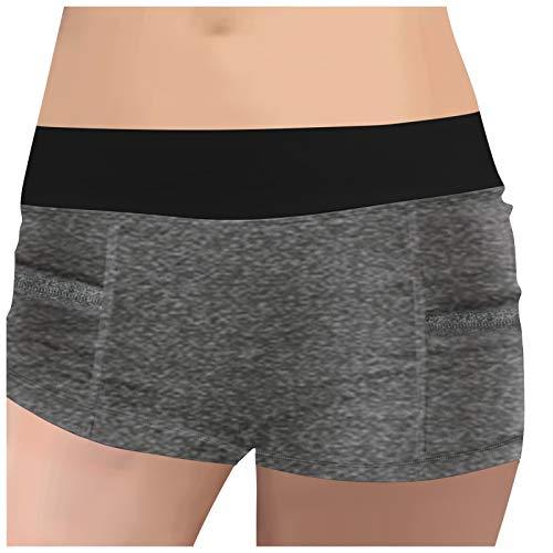 LMDGO Tik Tok Summer Shorts Schnelltrocknende High-Waist mit Pocket Buttocks Slimming Sports Yoga Shorts