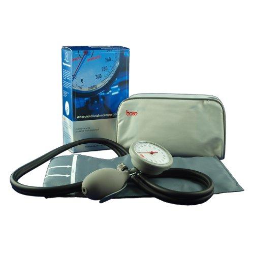 boso K2 Mechanisches Blutdruckmessgerät mit Klettenmanschette & Aufbewahrungstasche grau