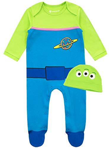 Disney Conjunto de Pijama Entera y Gorro para Nios Bebs Toy Story Multicolor 3-6 Meses