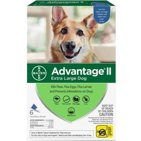 6 Month Advantage II Flea Control Blue (for Dogs Over 55 lbs)