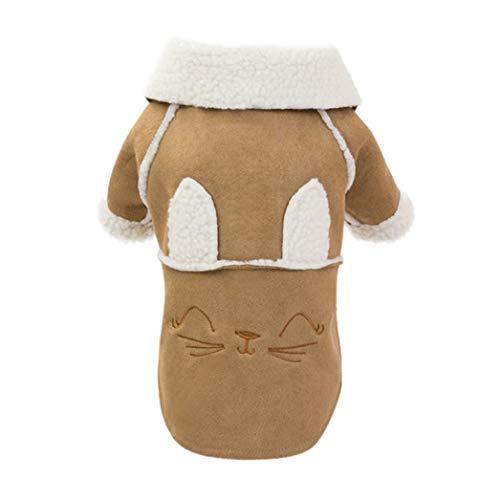 AMURAO Giacche da Bavero Invernali Cappotto da Cucciolo in Pile Caldo Abbigliamento da Motociclista Carino per Cani di Piccola Taglia Media