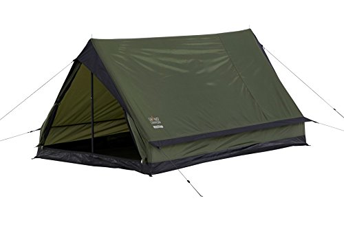 Grand Canyon Trenton 2 - leichtes Zelt, 2 Personen, Minipack, stabil und leicht, für Camping, Outdoor, Festival, Survival, leichter Aufbau, nur 1,5 Kg, olive, 302032