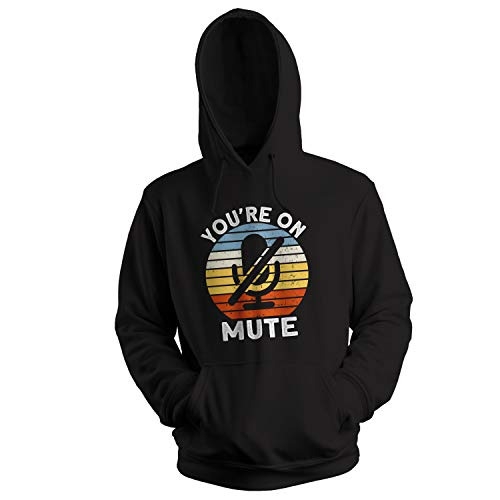 GR8Shop You Are On Mute Sudadera con Capucha Negra Unisex Size M