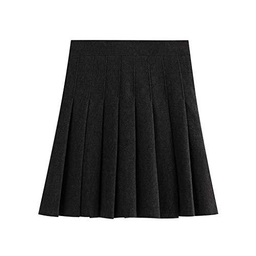 Zarupeng dames hoge taille plissé minirok slanke stretch korte rok Solid Color schooluniform plooirok skater rok