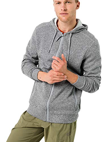 Jack Wolfskin Finley - Chaqueta con capucha para hombre, color gris, Unzutreffend, Evergreen, Chaqueta con capucha Finley, Hombre, color gris (slate grey), tamaño xxx-large