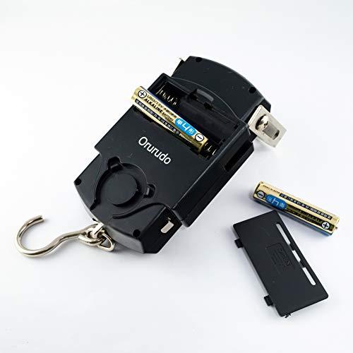 オルルド釣具フィッシング用デジタルスケール「ハカルドB」計測最大重量50kg1mメジャー付き電子吊りはかりqb700011a01n01