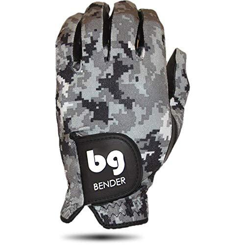 Bender Gloves Women's Spandex Golf Glove, Worn on Left Hand (Digital Camo, Large)