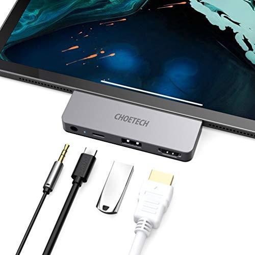 USB C Hub para iPad Pro 2018/2020, CHOETECH 4 en 1 Adaptador