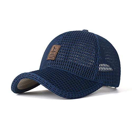 MOVERV-Gorra Malla Transpirable Gorra Color Sólido de Unisex,Verano Deportes de Protección Solar Gorra de Béisbol Ajustable Sombrero de Sol para Golf Tenis Bádminton Senderismo