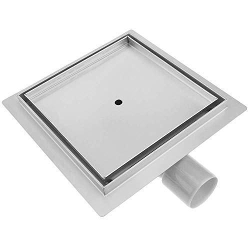PrimeMatik - Scarico Doccia Quadrato 20 cm. Canaletta di drenaggio a Pavimento in Acciaio Inossidabile per Piastrelle
