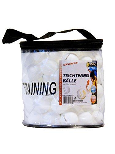 Best Sporting Tischtennisbälle 40 mm, 100 Stück aus ABS, in Tasche