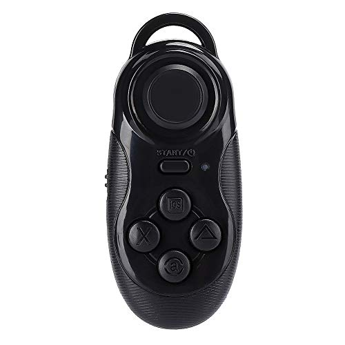 Agatige Mini VR Control Remoto Inalámbrico Bluetooth Gamepad Selfie Timer Joystick, Soporte Bluetooth para Teléfono Móvil Selfie, Control Bluetooth, Controlador de Juegos Bluetooth(Negro)
